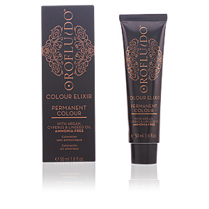 Tintas COLOUR ELIXIR permanent colour #7,3 golden blonde Orofluido
