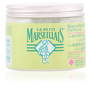 Hair mask for damaged hair ARCILLA BLANCA & JAZMÍN mascarilla purificante Le Petit Marseillais