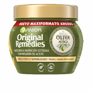 Hair mask for damaged hair ORIGINAL REMEDIES mascarilla oliva mítica Garnier