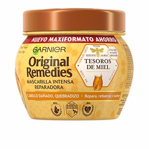 Hair mask for damaged hair ORIGINAL REMEDIES mascarilla tesoros de miel Garnier