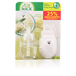 AIR-WICK ambientador electrico completo #white 19 ml