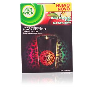 AIR-WICK ambientador vela perfumada black edition #manzana