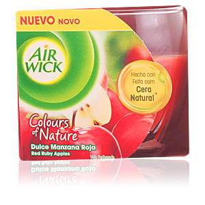 AIR-WICK COLOURS OF NATURE vela perfumada #manzana roja