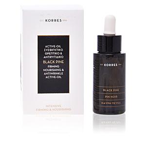 Face moisturizer BLACK PINE firming nourishing & antiwrinkle active oil Korres