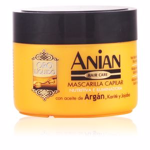 Hair mask for damaged hair ORO LÍQUIDO mascarilla con aceite de argán Anian