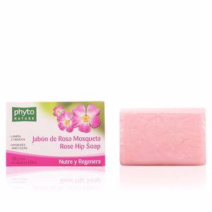 Limpiador facial PHYTO NATURE pastilla jabón rosa mosqueta Luxana