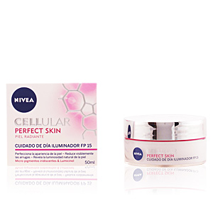 Anti aging cream & anti wrinkle treatment CELLULAR PERFECT SKIN piel radiante cuidado de día SPF15 Nivea