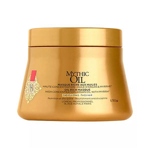 Mascarilla reparadora MYTHIC OIL rich mask #thick hair L'Oréal Professionnel