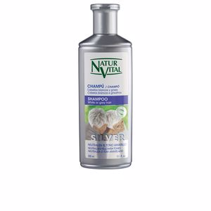 Shampooing couleur CHAMPU SILVER cabello blanco y gris Naturvital