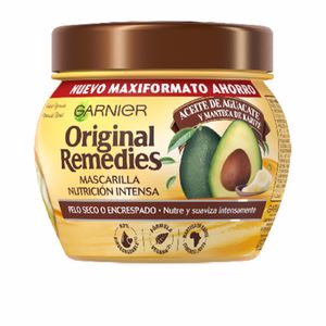 Anti frizz mask ORIGINAL REMEDIES mascarilla de aguacate y karite Garnier