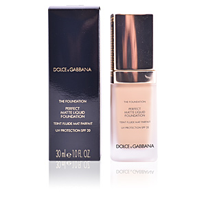 Base de maquillaje THE FOUNDATION perfect matte liquid Dolce & Gabbana Makeup