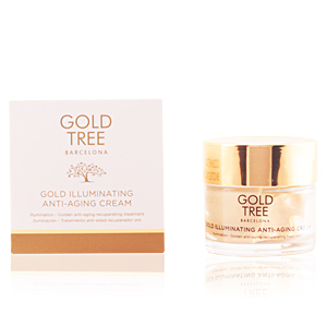 Anti-Aging Creme & Anti-Falten Behandlung - Flash-Effekt GOLD ILLUMINATING anti-aging cream Gold Tree Barcelona