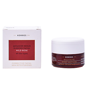 Creme antirughe e antietà WILD ROSE advanced repair sleeping facial night Korres