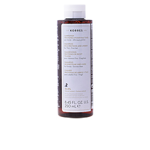 Shampooing volume RICE PROTEINS AND LINDEN shampoo for thin/fine hair Korres