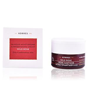 Tratamiento Facial Hidratante WILD ROSE 24h moisturising & brightening cream Korres