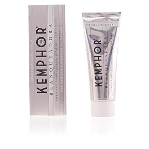 Pasta de dientes BLANQUEADORA crema dental fluorada Kemphor