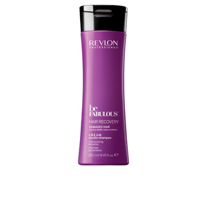 Champú con keratina - Champú antirrotura BE FABULOUS recovery cream shampoo Revlon