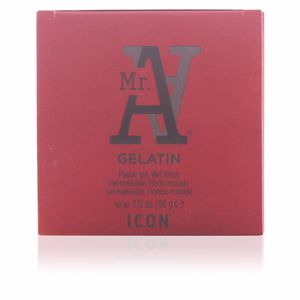 Hair styling product MR. A. gelatin pliable gel wet finish I.c.o.n.