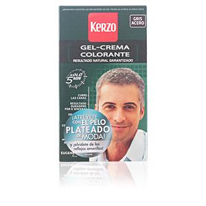 Dye TINTE PARA HOMBRE gel-crema #gris acero Kerzo