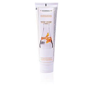 Mascarilla para el pelo SUNFLOWER AND MOUNTAIN TEA repairing hair mask Korres
