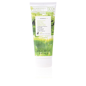 Body moisturiser BASIL LEMON body milk Korres