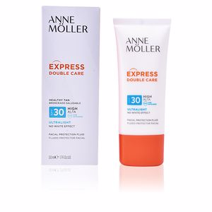 Ochrona Twarzy EXPRESS DOUBLE CARE healthy tan fluid SPF30 Anne Möller