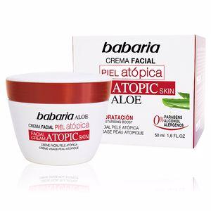 Soin du visage hydratant PIEL ATÓPICA aloe vera crema facial 0% Babaria