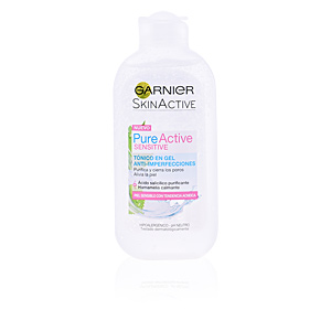 Face toner PURE ACTIVE tónico facial en gel piel sensible Garnier