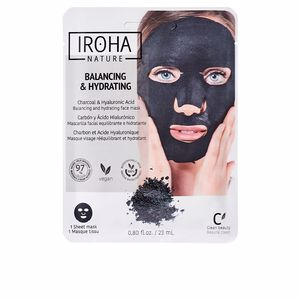 Mascara facial DETOX CHARCOAL BLACK tissue facial mask Iroha