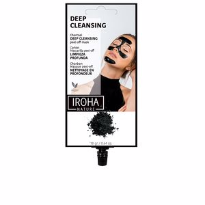 Mascara facial DETOX CHARCOAL BLACK peel-off mask Iroha