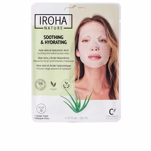 Face moisturizer TISSUE MASK moisturizing aloe + hyaluronic acid Iroha Nature