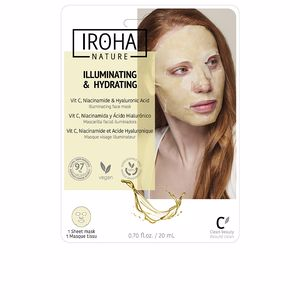 Masque pour le visage TISSUE MASK brightening vitamin C + HA Iroha
