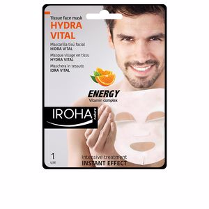 Gesichtsmaske MEN TISSUE FACE MASK hydra vital vitamin C Iroha Nature