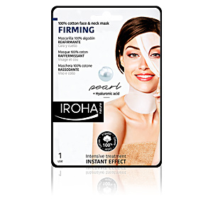 Masque pour le visage 100% COTTON FACE & NECK MASK pearl-firming Iroha