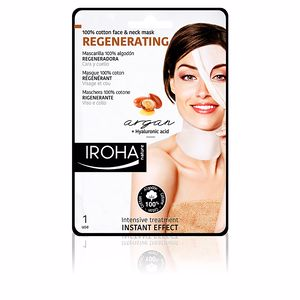 Face mask 100% COTTON FACE & NECK MASK argan-regeneration Iroha Nature