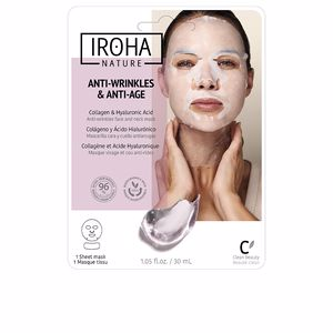 Anti aging cream & anti wrinkle treatment 100% COTTON FACE & NECK MASK collagen-antiage Iroha