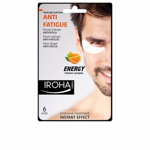 Anti ojeras y bolsas de ojos ENERGY parches hidrogel antifatiga para hombre Iroha Nature
