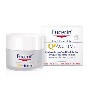 Anti aging cream & anti wrinkle treatment Q10 ACTIVE crema de día antiarrugas piel seca Eucerin