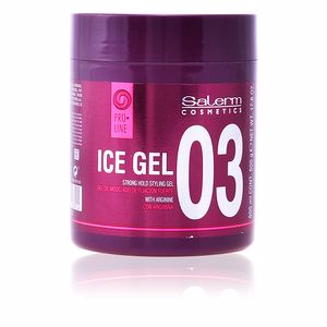 Hair styling product ICE GEL strong hold styling gel Salerm