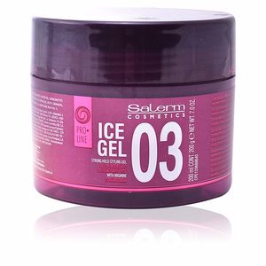 Hair styling product ICE GEL 03 strong hold styling gel Salerm