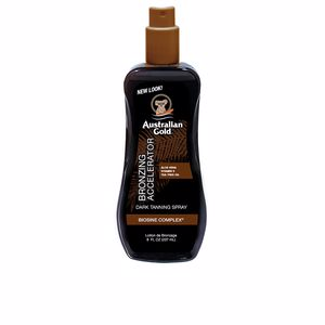 DARK TANNING ACELERATOR spray gel with instant bronzer