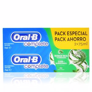 Toothpaste COMPLETE DENTIFRICO ENJUAGE + BLANQUEANTE SET Oral-B