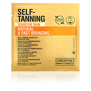 Facial SELF-TANNING natural & fast bronzing towelette sensitive skin Comodynes