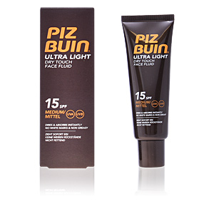 Faciais ULTRA LIGHT dry touch face fluid SPF15 Piz Buin