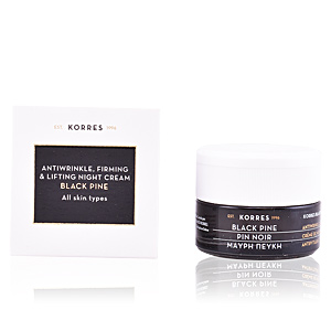 Cremas Antiarrugas y Antiedad BLACK PINE antiwrinkle, firming & lifting night cream Korres