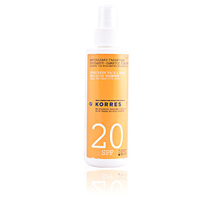 Facial SUNSCREEN face & body emulsion yoghurt  SPF20 spray Korres