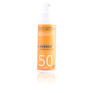 Faciales SUNSCREEN face & body emulsion yoghurt SPF50 spray Korres