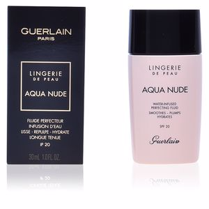 Foundation makeup AQUA NUDE perfecting fluid SPF20 Guerlain