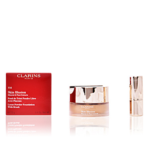 Foundation makeup SKIN ILLUSION mineral & plant extracts Clarins