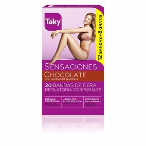 Hair removal wax CHOCOLATE bandas de cera depilatorias corporales Taky